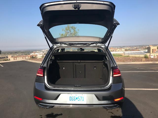 Hatch open on 2020 Volkswagen Golf TSI
