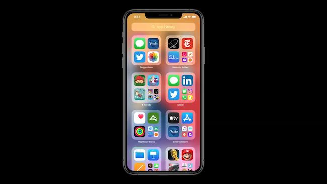 مجموعات مكتبة تطبيقات iOS 14