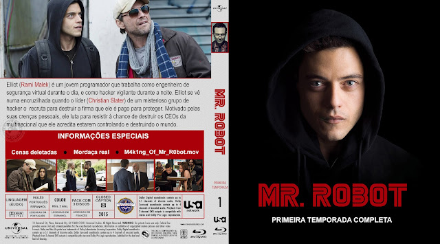 Capa Bluray Mr Robot Primeira Temporada Completa [Exclusiva]