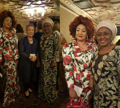 Photos: Aisha Buhari meets US first lady Michelle Obama in New York