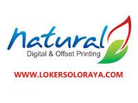 Loker Solo Raya November 2020 di Natural Digital & Offset Printing