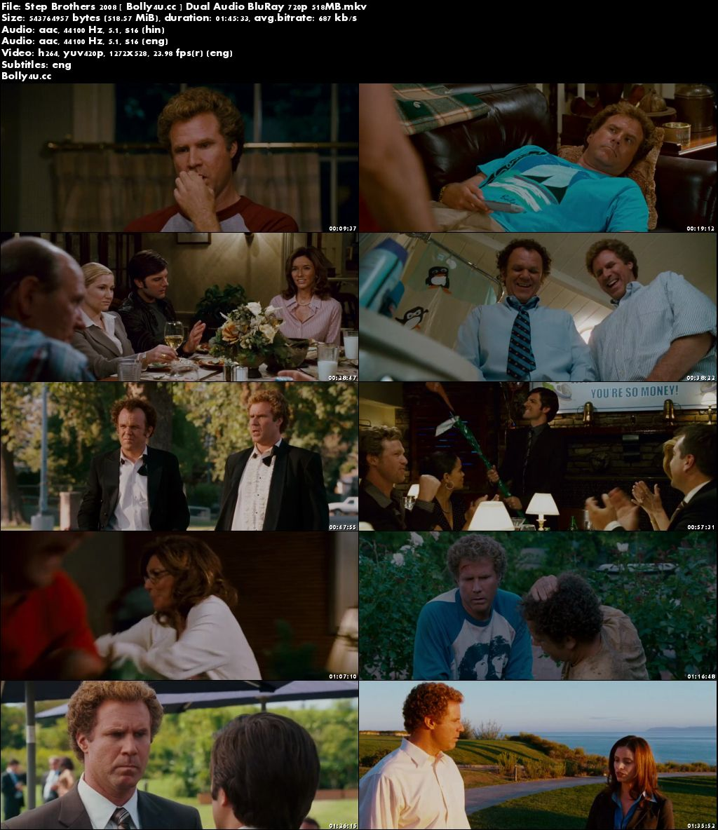 Step Brothers 2008 BluRay 500MB Hindi Dual Audio 720p Download