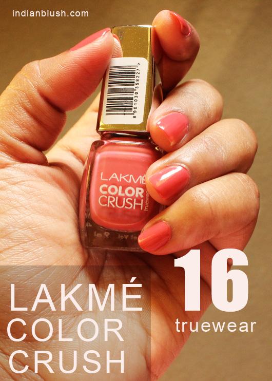 Lakme Color Crush True Wear 16 Nailpolish