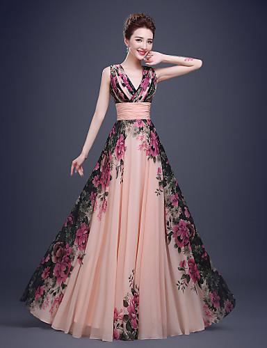 Vestido Coctail Rosa Perla Estampado