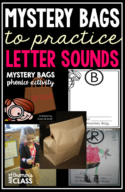'Mystery Bags' is a fun, no prep activity to have every student involved in learning letter sounds. A great Kindergarten phonics activity!