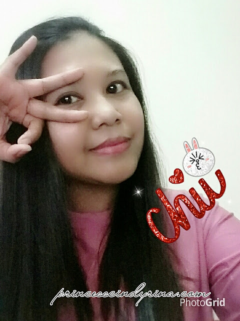 Girl posing after applying foundation