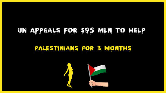 For the next three months, the UN has requested $95 million to assist Palestinians.