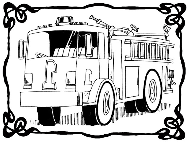 fire truck coloring pages printable