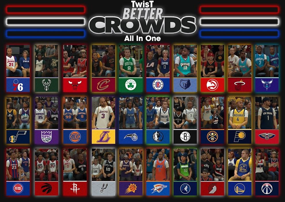 NBA 2K22  Twist 30 Teams  Better Crowd Mod From 2K20 - All In One