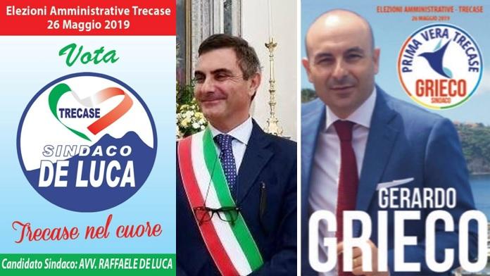Elezioni amministrative a Trecase: candidati Gerardo Grieco e Raffaele De Luca