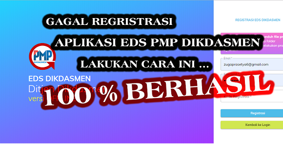 gagal regristrasi pmp