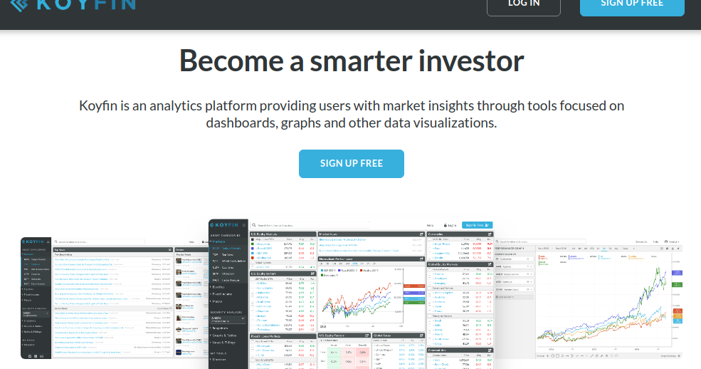 Sharadar Koyfin Koyfin is a data visualization and analytics application for financial and investing professionals. sharadar