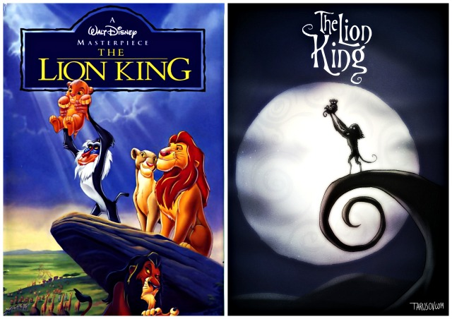Illustrator Andrew Tarusov redesigns  Disney's classic movie character The Lion King  into Tim Burton's dark gothic style via geniushowto.blogspot.com Illustrations 8