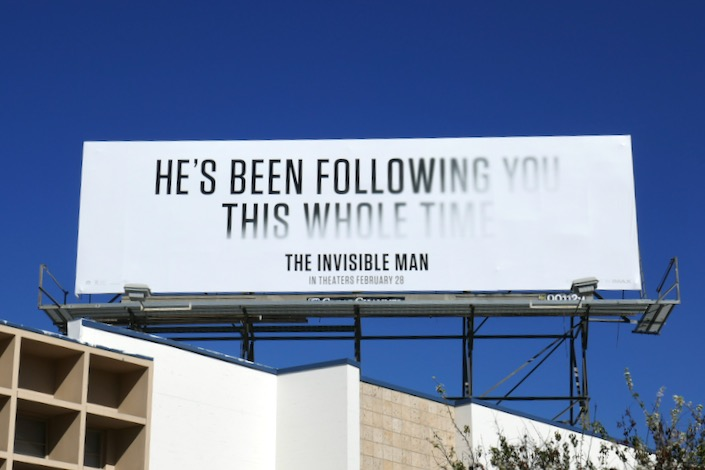 following you this whole time Invisible Man billboard