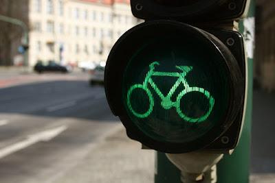 Semáforo para las bicicletas en Islandia