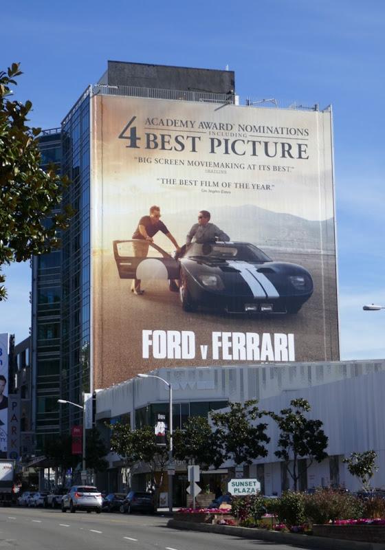 Ford v Ferrari Oscar nominee billboard