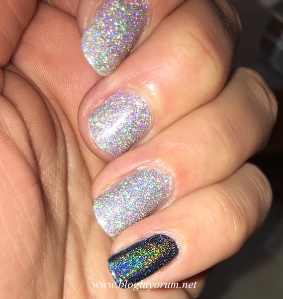 flormar gl14 holographic silver color club beyond oje flash
