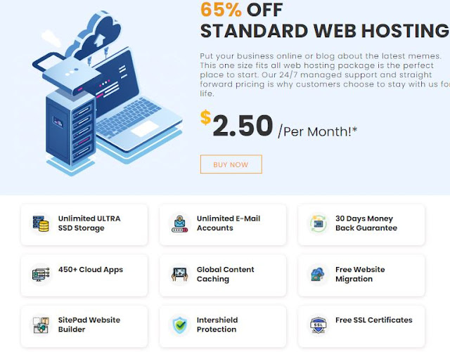 INTERSERVER HOSTING PRICING PLAN & FEATURES