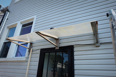 plastic channel reuse upcycle door awning