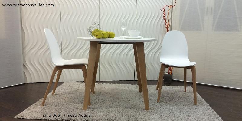Distintos modelos de mesas redondas para cocina o comedor