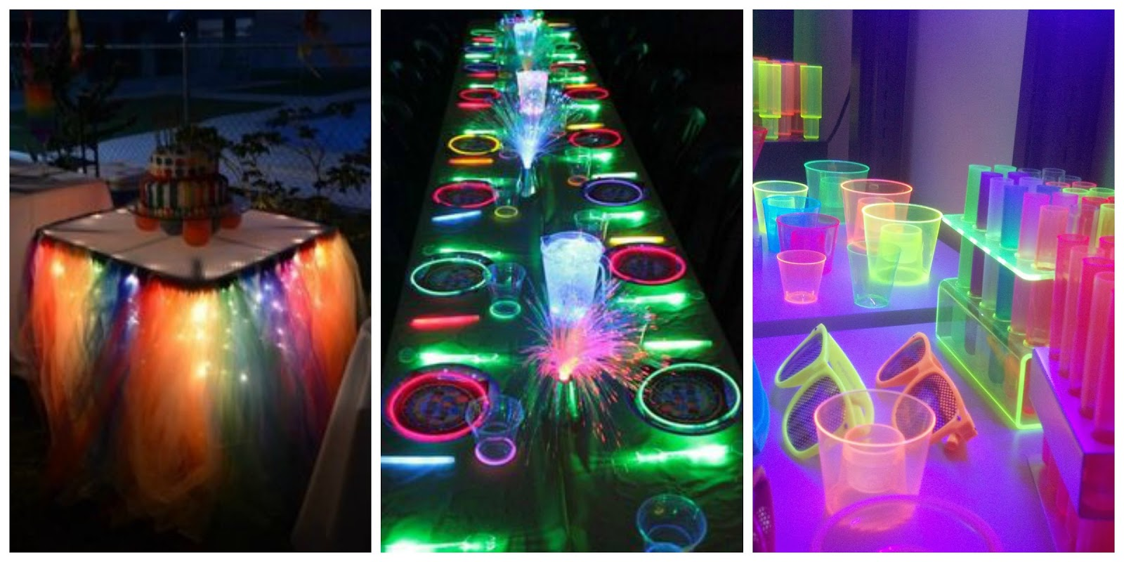 Neon party ideas para la decoraci n outfit y for Quiero ver decoraciones