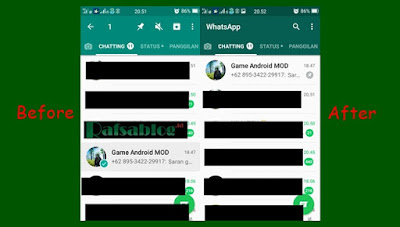 Cara Membuat Chat Orang Menjadi Favorite (Pin) di Whatsapp