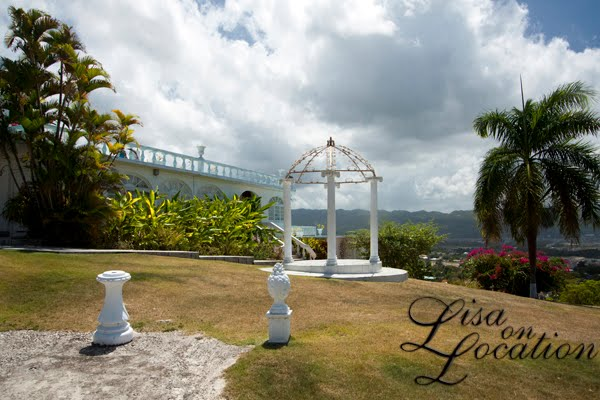 Wedding gazebo that serves destination weddings on the grounds of Hotel Grace - Richmond Hill Inn, Montego Bay, Jamaica.
