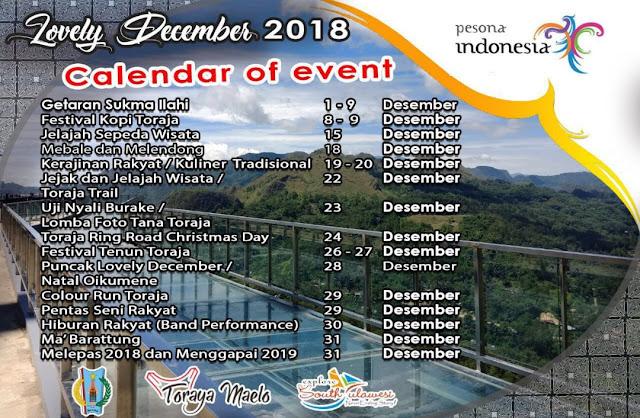 Tana Toraja Akan Gelar Sejumlah Event Lovely Desember untuk Terakhir Kalinya