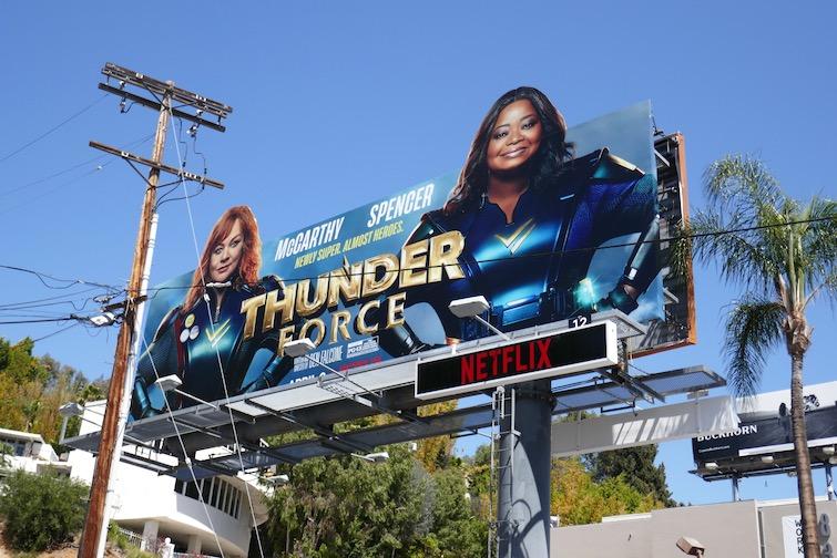 Thunder Force Netflix movie billboard