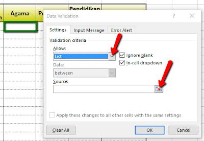 Cara cepat entry Data pada Excel