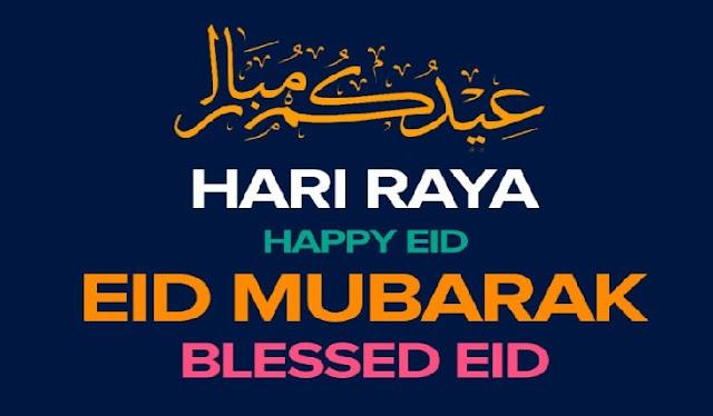 How do you say Eid Mubarak in Malay sian language (Malay) ?