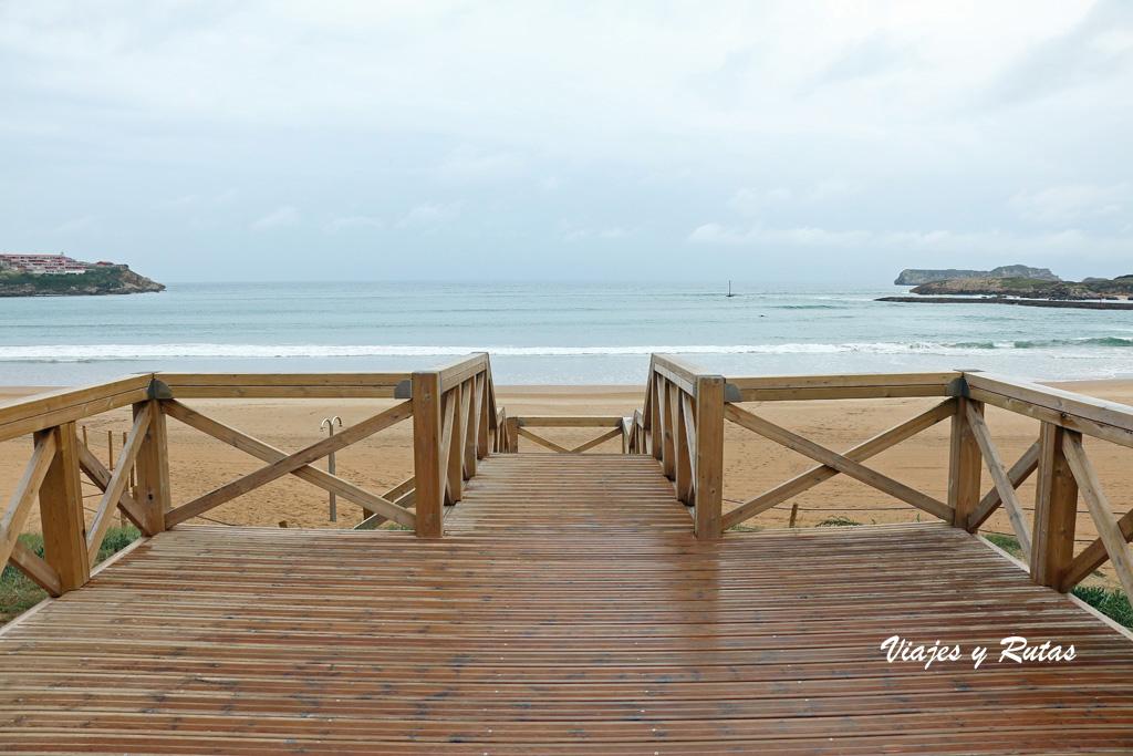 Pasarelas de la Playa de la Concha. Suances