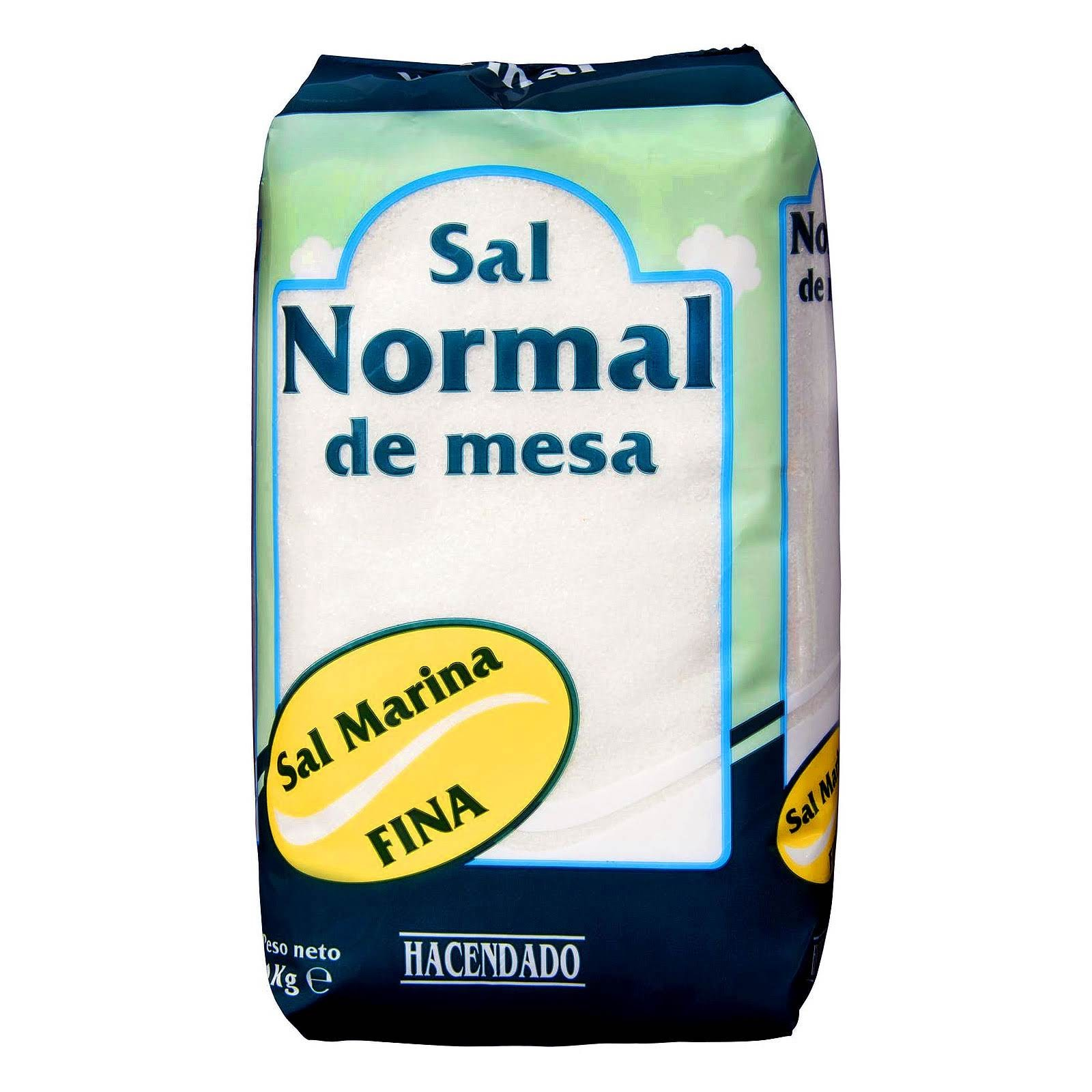 Sal normal fina Hacendado
