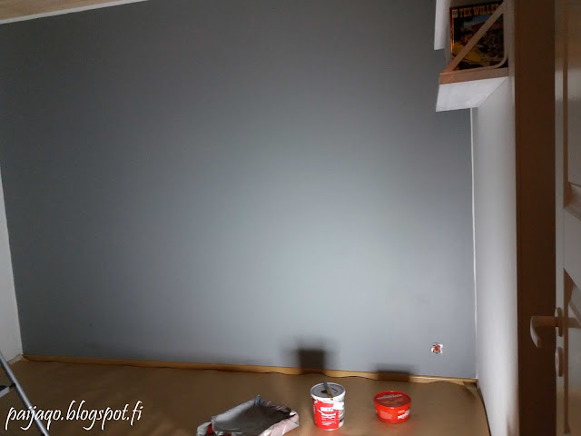 maalattu seinä