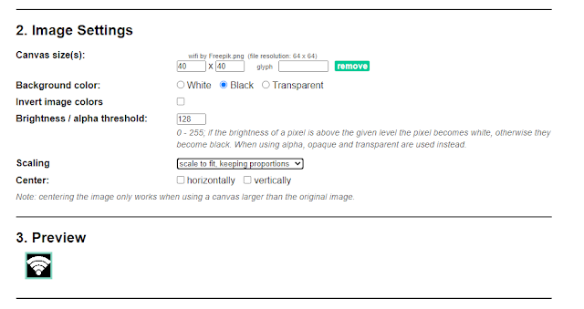 image to arduino bitmap