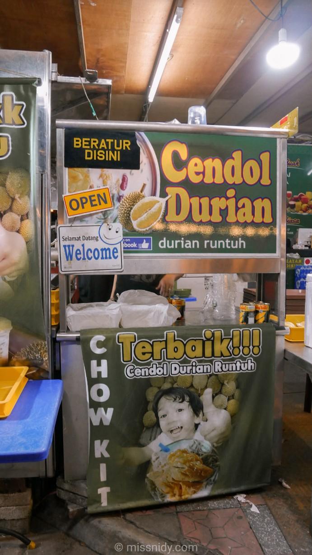 cendol durian runtuh