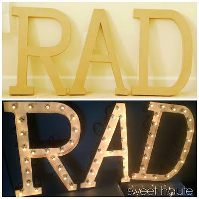 Rad Marquee DIY Sign