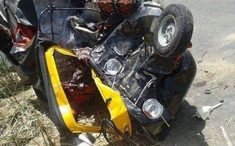 مصرع شخص وإصابة 3 آخرين بحادث تصادم «توك توك» بسيارة ملاكي في سوهاج
