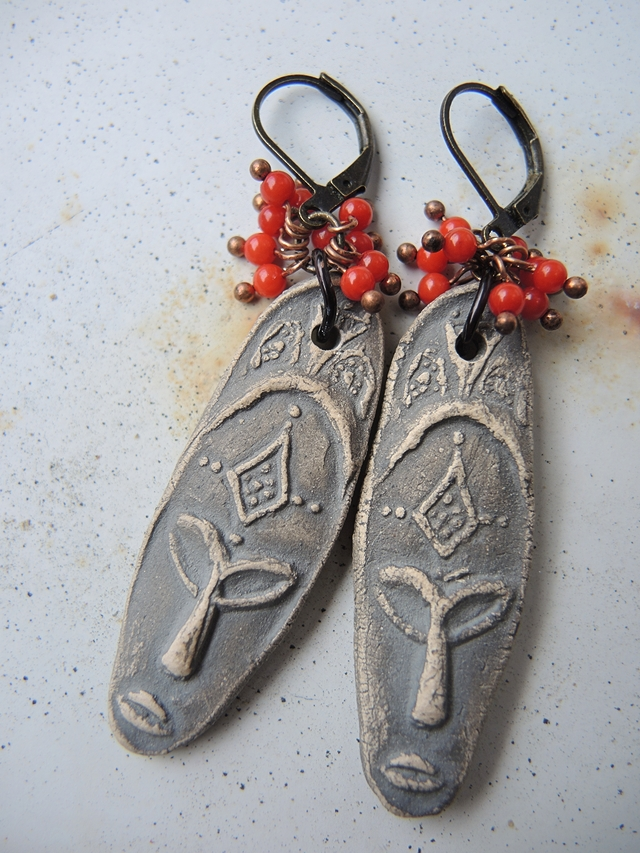 DIY oorbellen/earrings 'ancestors'