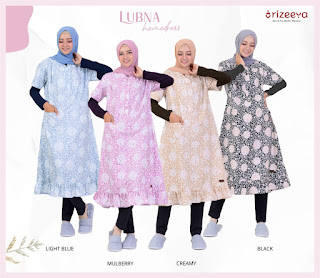 Koleksi Homedress Terbaru Orizeeya Lubna by Folia Grup
