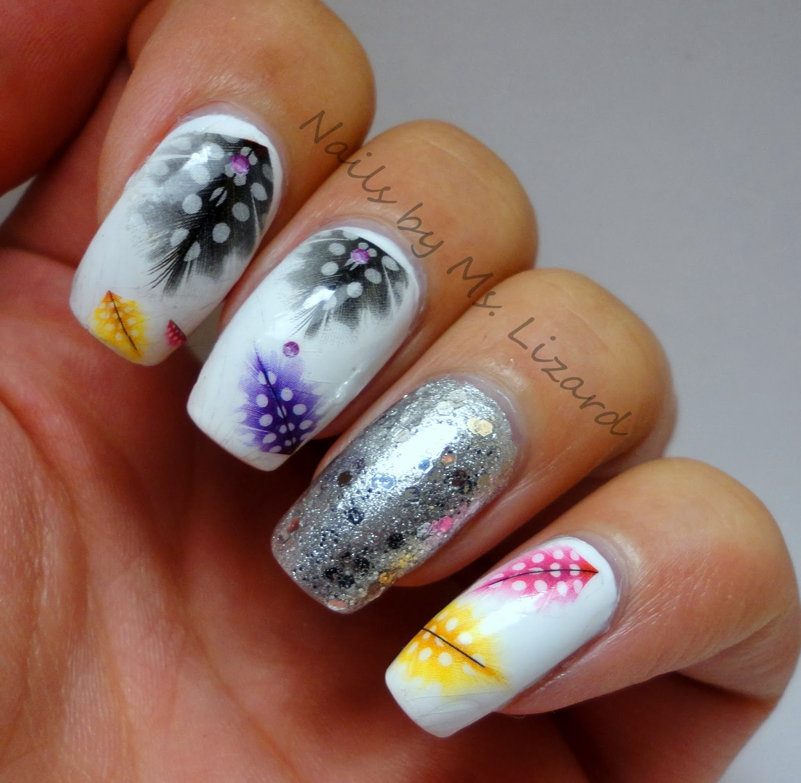 Pretty Nail Art: Nails By Ms. Lizard: Born Pretty Store: Colorful Feather