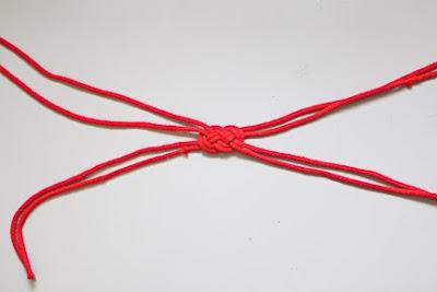 Denizci Düğümü İle Saç Bandı Yapımı 9