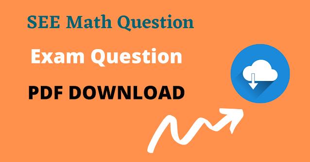 Class 10 Math SEE Question