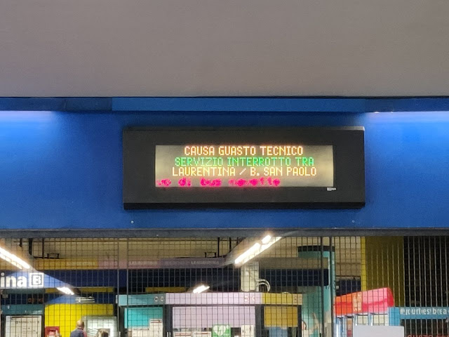 Metro B, interrotta tratta Laurentina-Garbatella per guasto tecnico