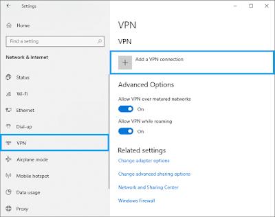 Cara Masuk Setting VPN PPTP Di Windows 10