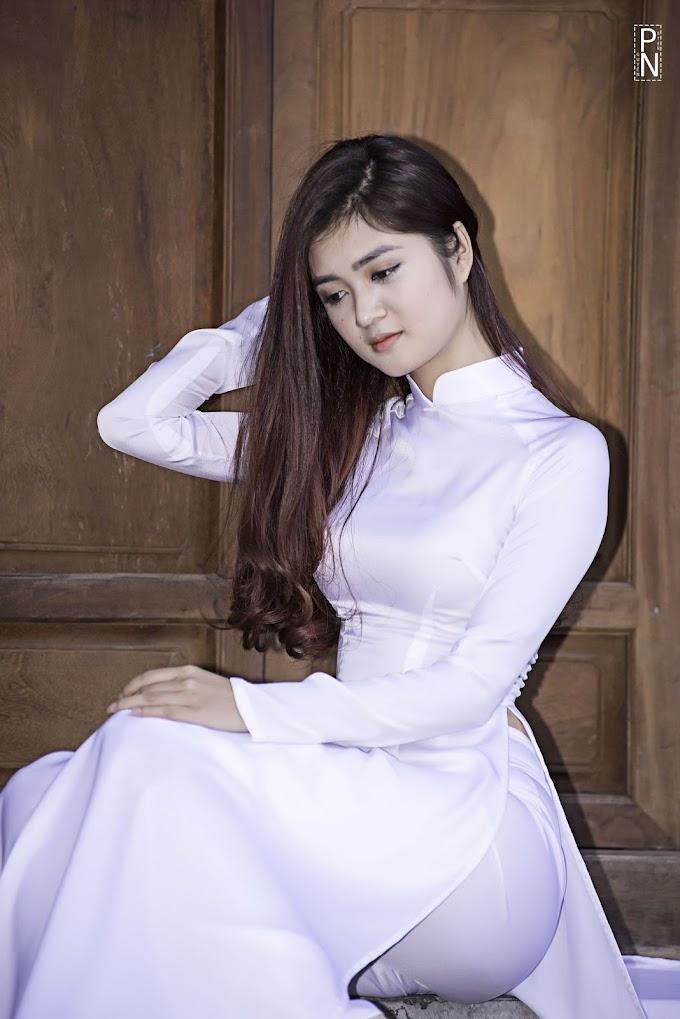 Tuyển tập girl xinh gái đẹp Việt Nam mặc áo dài đẹp mê hồn #87