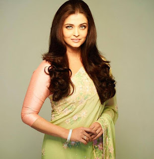Aishwarya Rai Green Saree