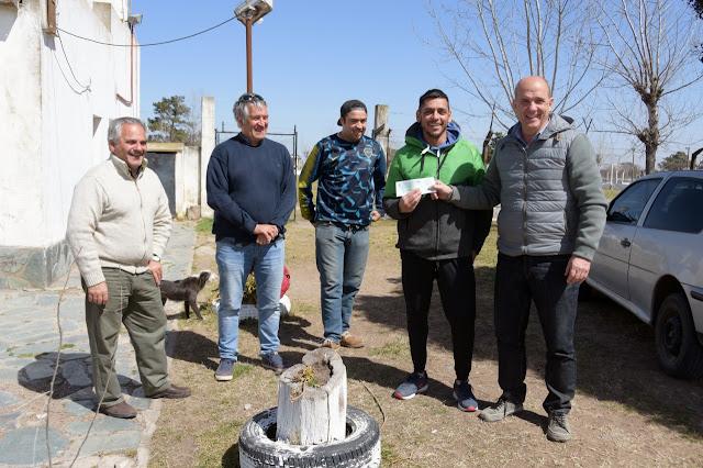 La municipalidad colabora con el Club Atlético Calaveras