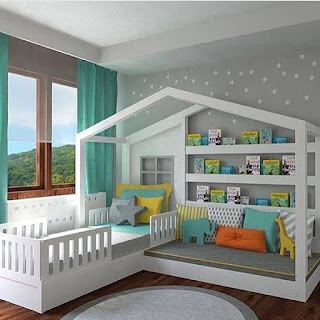 حجرة نوم للأطفال موديل حديث ٢٠٢١