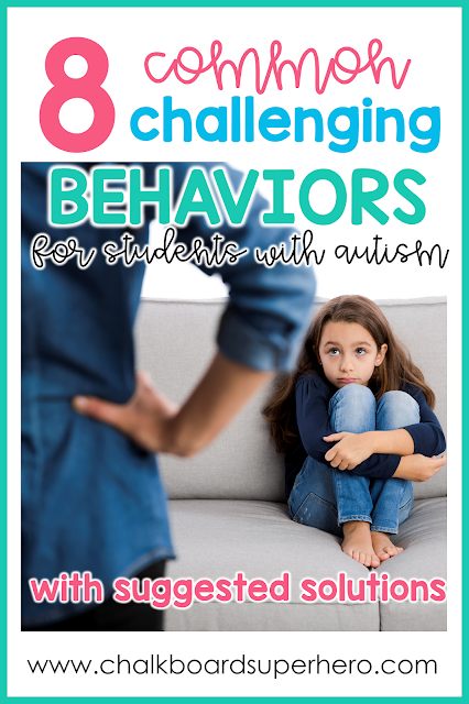 8 challenging behaviors with students with autism and suggested solutions